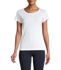 splendid women's classic crew t-shirt - white - size l