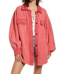 women's free people ruby jacket, size x-large - red