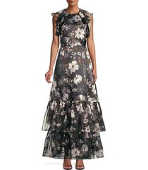 calistoga thea floral tiered ruffle dress