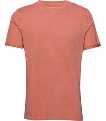 jorlevel tee ss crew neck t-shirts short-sleeved orange jack & j s