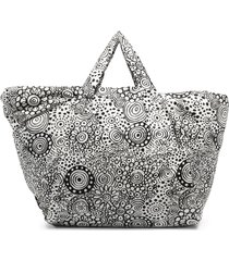 10 corso como doodle-graphic print padded tote - white