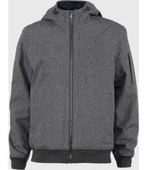 chaqueta tommy hilfiger polar multicolor - calce regular