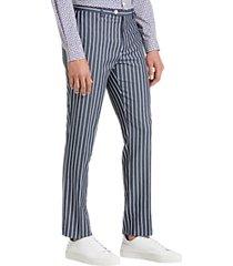 paisley & gray slim fit suit separates dress pants denim blue stripe