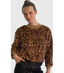 sweater nrg animal print multicolor - calce regular