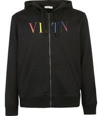 valentino vltn logo zip hoodie