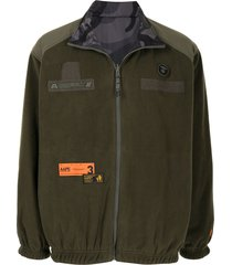 aape by *a bathing ape® shell-panelled fleece jacket - khx