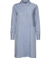cunathleen shirt dress kort klänning blå culture