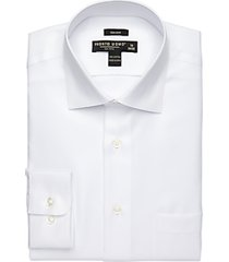 pronto uomo big and tall white queens oxford modern fit dress shirt