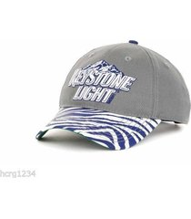 vision concepts keystone light / always smooth beer adjustable zebra cap hat