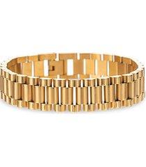 levi goldtone titanium chunky chain bracelet