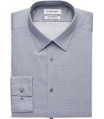 calvin klein infinite non-iron gunmetal slim fit dress shirt