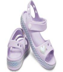 sandália crocs crocband imagination sandal ps lilás.