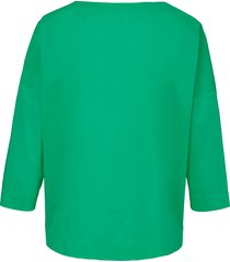 shirt met ronde hals en verlaagde schoudernaden van day.like groen
