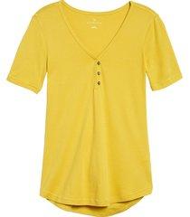 women's caslon henley tee, size x-small - yellow