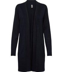 cuannemarie long cardigan gebreide trui cardigan zwart culture