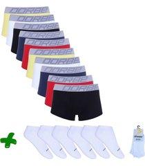 kit sungão + pares de meia soquete dorbe