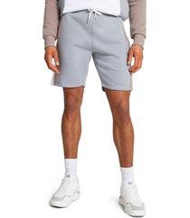 men's river island slim fit blocked panel sweat shorts, size small - blue