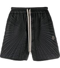 moncler + rick owens padded track shorts - black