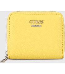 billetera amarillo guess