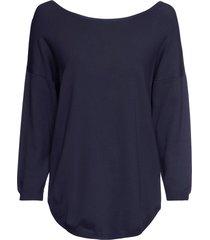 maglione con scollo a v sulla schiena (blu) - bodyflirt