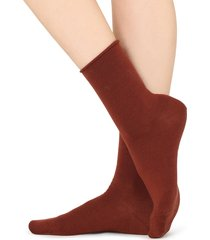 calzedonia - wool and cotton short socks, one size, red, women