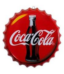placa tampa de garrafa decorativa 35 cm coca cola