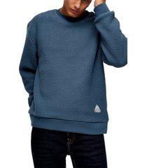 men's topman classic fleece crew sweatshirt