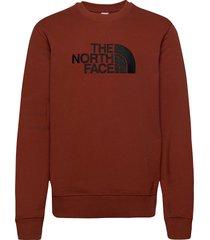 m drew peak crew sweat-shirt trui bruin the north face