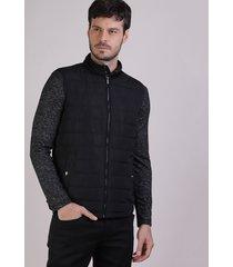 colete masculino nylon casual preto