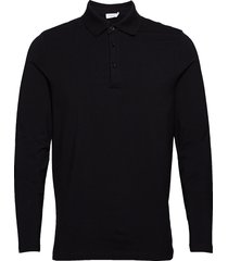 m. luke lycra polo shirt polos long-sleeved svart filippa k