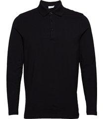 m. luke lycra polo shirt polos long-sleeved svart filippa k