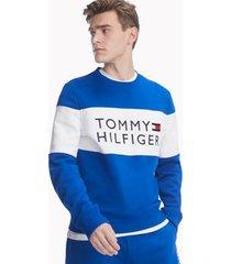 tommy hilfiger men's essential logo sweatshirt cobalt - xl