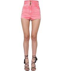 balmain tall waist shorts