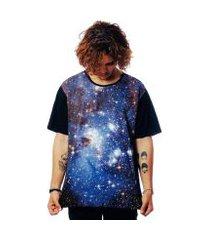 camiseta galaxy elephunk estampada estrelas universo