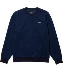 lacoste mesh panel sweatshirt