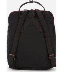 fjallraven women's kanken re-wool backpack - red/black