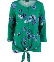 blus med trekvartsärm och blommönster