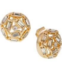 laundry by shelli segal button clip earrings