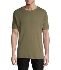 banks journal men's trooper deluxe textured t-shirt - olive - size m