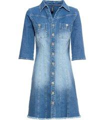 abito di jeans con maniche a 3/4 (blu) - rainbow