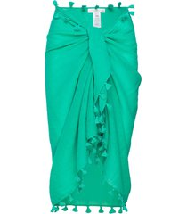 beach edit cotton gauze sarong beach wear grön seafolly