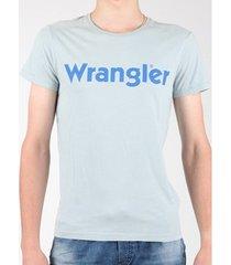 t-shirt korte mouw wrangler s/s graphic tee w7a64dm3e