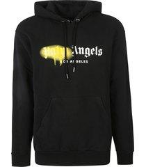 palm angels la sprayed logo hoodie
