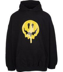 balenciaga man black drip peace hoodie
