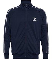 hmlarne zip jacket sweat-shirt tröja blå hummel