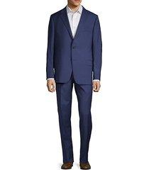classic fit milburn iim series wool plaid suit