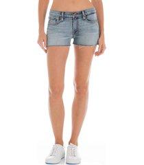 women's fidelity rocco cutoff denim shorts, size 31 - blue