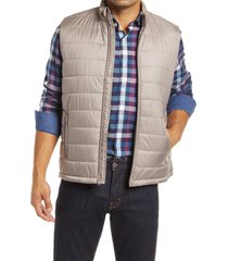 men's bugatchi quilted vest, size xx-large - brown