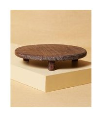 objeto de madeira decorativo cor: natural - tamanho: único