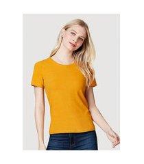 camiseta hering básica em algodáo laranja